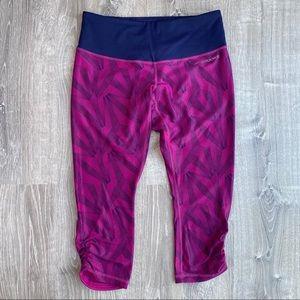 NWOT BROOKS Running Tights Capri Leggings Purple S